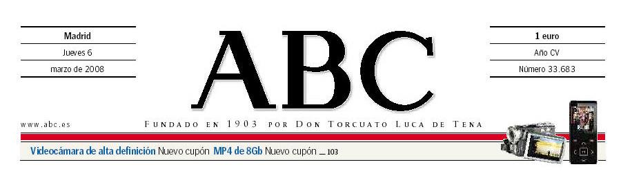 Portada del periódico ABC